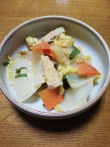 白菜の炒めもの